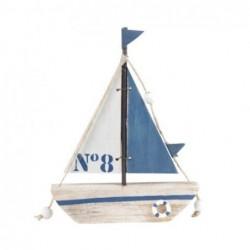 Adorno PAred Barco Azul 16 cm