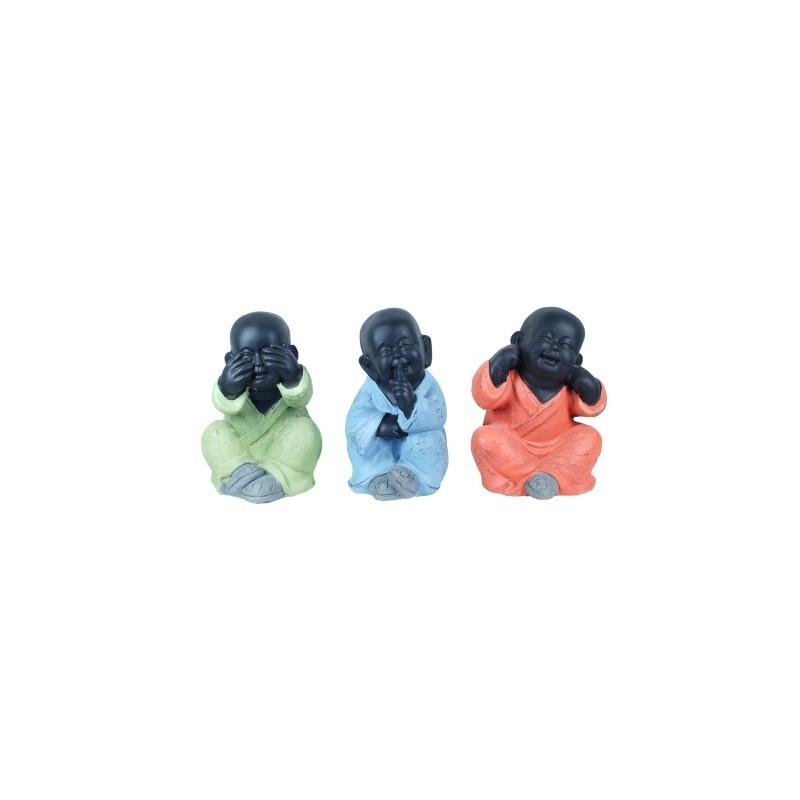 Figura Buda x3 Colores 24 cm