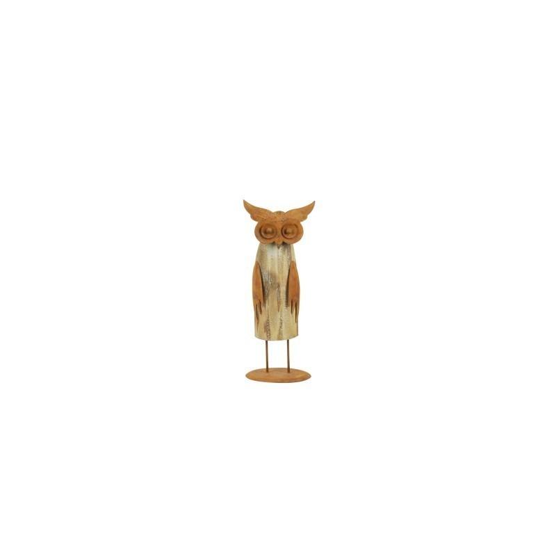 Figura Buho MAdera 20 cm