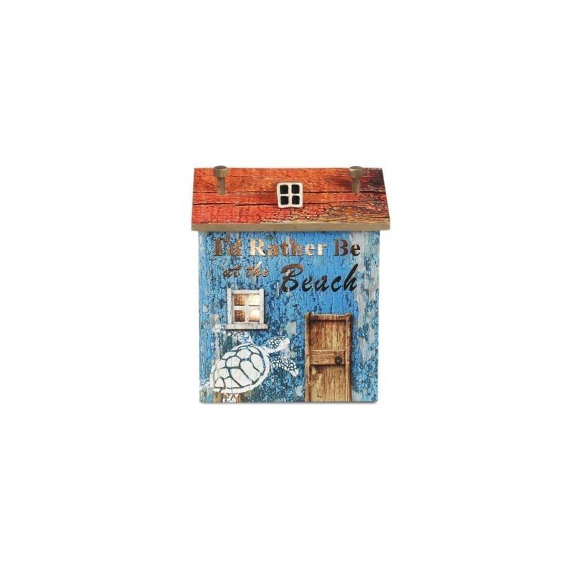 figura Casa con Luz Led 14 cm