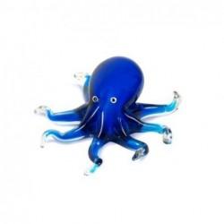 Figura Cristal Pulpo Azul 18 cm