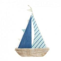 Figura Decorativa Barco Azul 28 cm