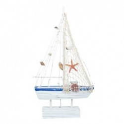Figura Decorativa Barco con LED 41 cm