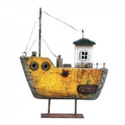 Figura Decorativa Barco Viejo 20 cm