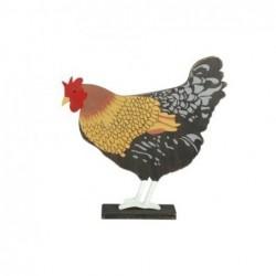 Figura Decorativa Gallina MAdera 16 cm