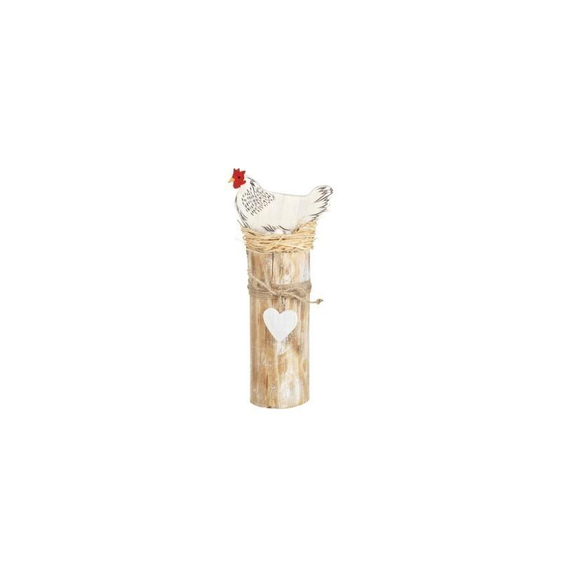 Figura Decorativa Gallina MAdera 27 cm