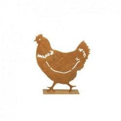 Figura Decorativa Gallina Metal 19 cm