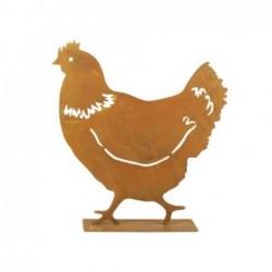 Figura Decorativa Gallina Metal 26 cm