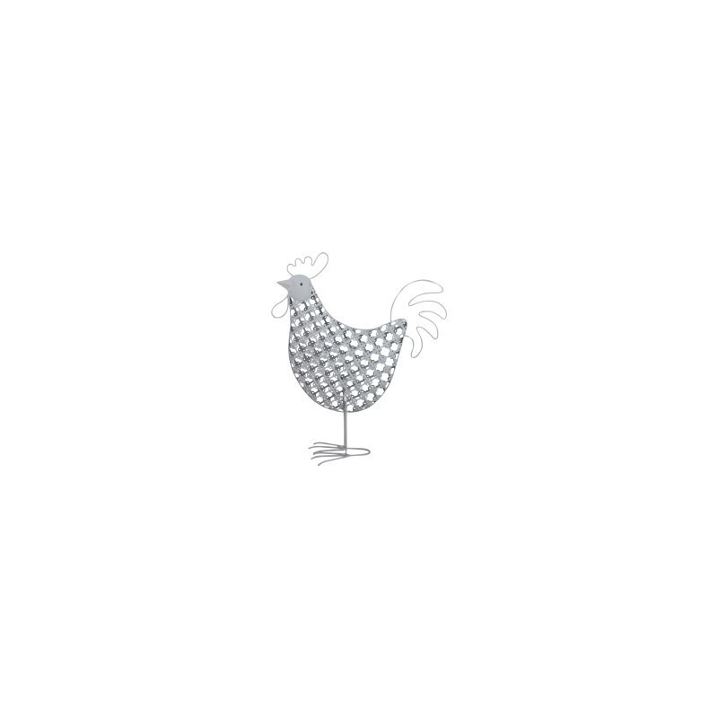 Figura Metal Gallo 25 cm