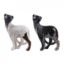 Figura Resina x2 Gato Negro 29 cm