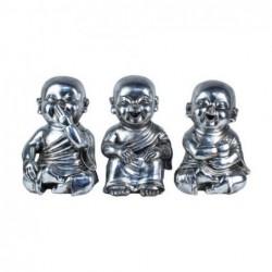Figura Resina x3 Monjes Budistas 29 cm