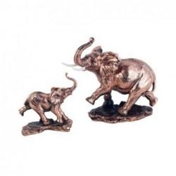 Figura Set 2 Elefantes Resina 22 cm