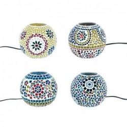 Lampara Mosaico x4 Bolas 14 cm