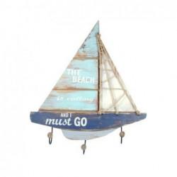 Percha Barco Madera 3 Pomos 61 cm