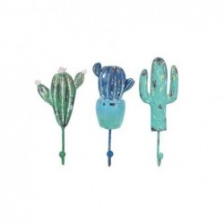 Percha Pared x3 Cactus 20 cm