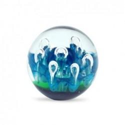 Pisapapel Cristal Bola Azul 6 cm