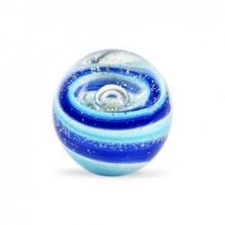 Pisapapel Cristal Bola Azul 8 cm
