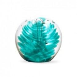 Pisapapel Cristal Bola Verde 6 cm