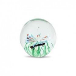 Pisapapel Cristal Mariposa Verde 7 cm