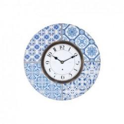 Reloj Pared Mosaico Azul 34 cm