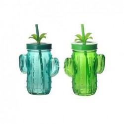 Vaso Cristal x2 Cactus 14 cm