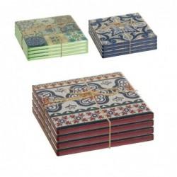 3 Sets de 4 Posavasos x3 Colores 10 cm