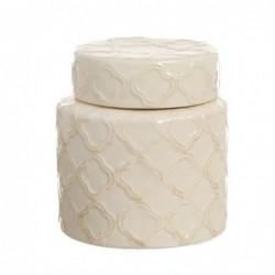 Bote Tibor Ceramica Blanco 15 cm