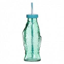 Botella Cristal Pez 19 cm
