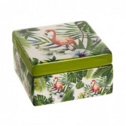 Caja cuadrada Tropical 9 cm