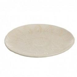 Centro de Mesa REdondo Ceramica Blanco 25 cm