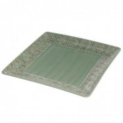 Centro Mesa Ceramica cuadrado Verde 26 cm