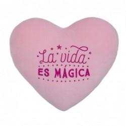 Cojin corazon Estrella Rosa