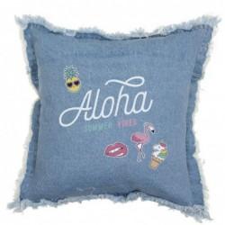 Cojin Denim Aloha Azul 40 cm