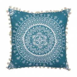 Cojin Poliester Mandala Azul 45 cm