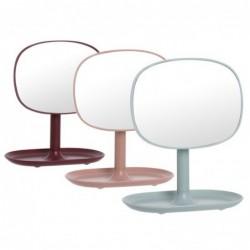 Espejo Bano con Base Anillero x3 Colores 16 cm