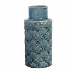Jarron Ceramica Azul 24 cm