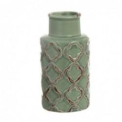 Jarron Ceramica Verde 16 cm
