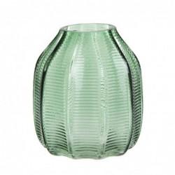 Jarron Cristal verde 18 cm