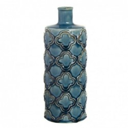 Jarron Violetero Ceramica Azul 24 cm
