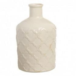 Jarron Violetero Ceramica Blanco 26 cm