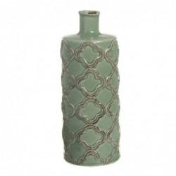 Jarron Violetero Ceramica Verde 24 cm