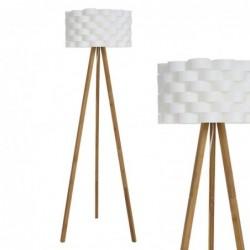Lampara de Pie Bambu Blanca 155 cm