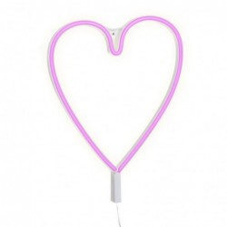 Lampara Pared Neon Corazon 37 cm