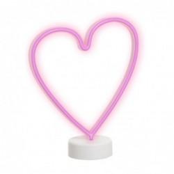 Lampara Sobremesa Neon Corazon 37 cm