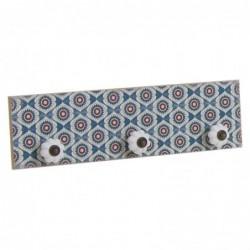 Perchero Mosaico Azul 30 cm