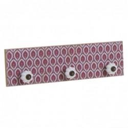 Perchero Mosaico Rojo 30 cm