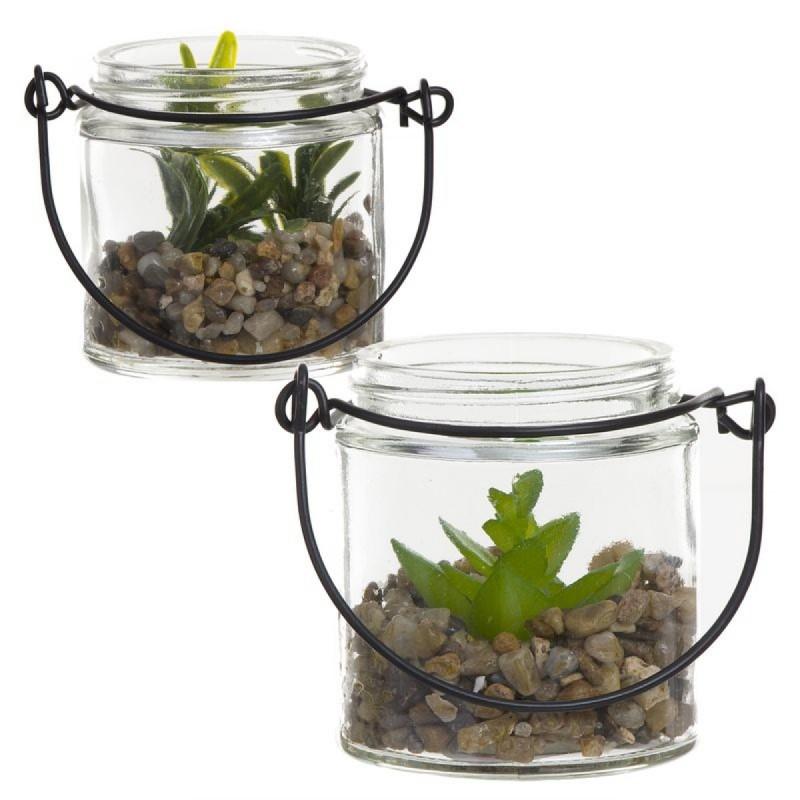 Planta Artificial x2 modelos 6 cm