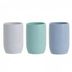 Vaso Bano x3 Colores Maison 10 cm