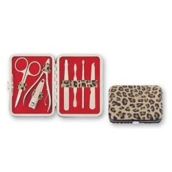 Caja Set Manicura Leopardo