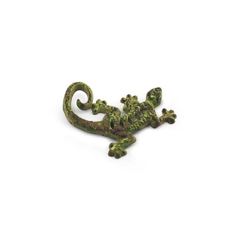 Figura Metal Lagarto Verde 11 cm
